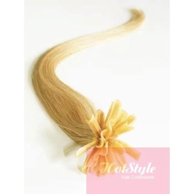 Vlasy európskeho typu na predlžovanie keratínom 50cm - prírodná blond