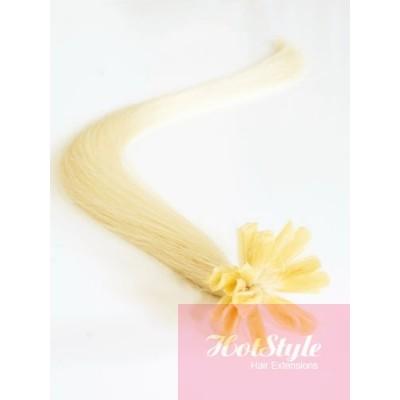 Vlasy európskeho typu na predlžovanie keratínom 50cm - najsvetlejšia blond