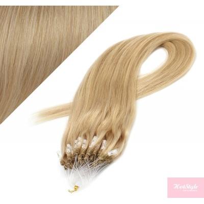Vlasy pre metódu Micro Ring / Easy Loop / Easy Ring / Micro Loop 40cm - prírodná blond