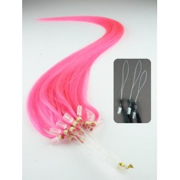 "15"" (40cm) Micro ring human hair extensions – pink"
