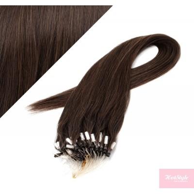 Vlasy pre metódu Micro Ring / Easy Loop / Easy Ring / Micro Loop 50cm - tmavo hnedé