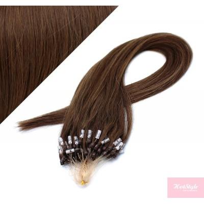Vlasy pre metódu Micro Ring / Easy Loop / Easy Ring / Micro Loop 60cm - stredne hnedé