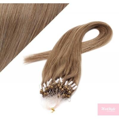 Vlasy pre metódu Micro Ring / Easy Loop / Easy Ring / Micro Loop 60cm - svetlo hnedé