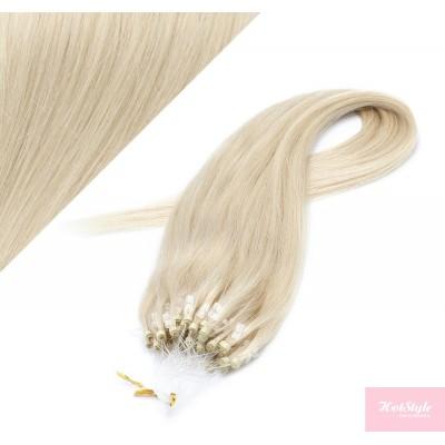 Vlasy pre metódu Micro Ring / Easy Loop / Easy Ring / Micro Loop 60cm - platinová blond