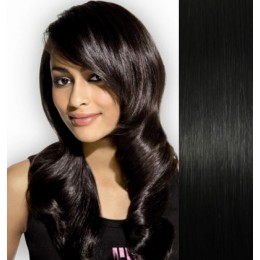 """16"""" (40cm) Tape Hair / Tape IN human REMY hair - black"""