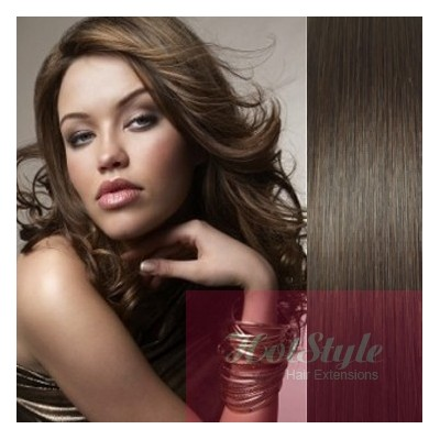 Vlasy pre metódu Pu Extension / Tapex / Tape Hair / Tape IN 50cm - tmavo hnedé