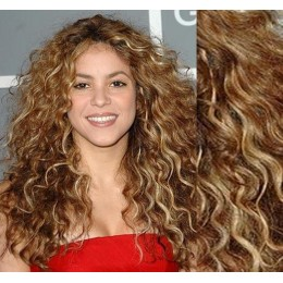 "20"" (50cm) Clip in curly human REMY hair - light blonde / natural blonde"