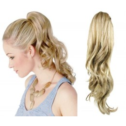 "Claw ponytail 24"" wavy - platinum/light brown"