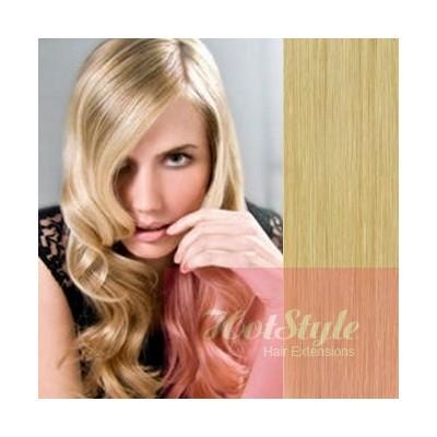 Clip in vlasy 43cm 100% ľudské - REMY 70g - prírodná blond