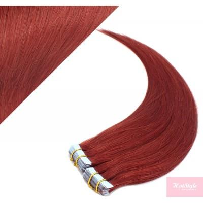 Vlasy pre metódu Pu Extension / Tapex / Tape Hair / Tape IN 50cm - medená