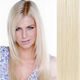 "20"" (50cm) Clip in human REMY hair - platinum blonde"