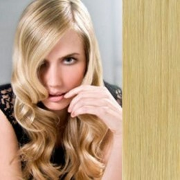 """24"""" (60cm) Clip in human REMY hair - natural blonde"""
