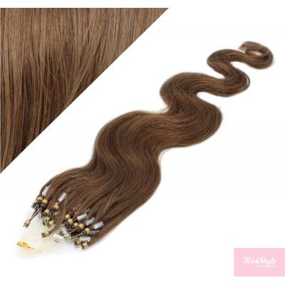 Vlasy pre metódu Micro Ring / Easy Loop / Easy Ring 50cm vlnité - svetlejšie hnedé