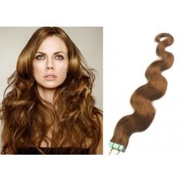 Vlasy pre metódu Tapex / Tape Hair / Tape IN 50cm vlnité - svetlo hnedé