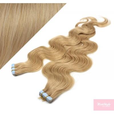 Vlasy pre metódu Tapex / Tape Hair / Tape IN 50cm vlnité - prírodná blond