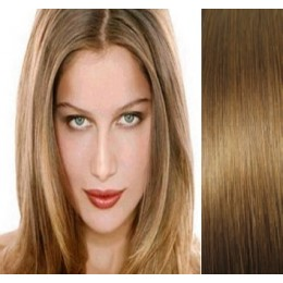 """28"""" (70cm) Clip in human REMY hair - light brown"""