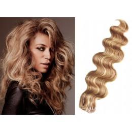 Vlasy pre metódu Tapex / Tape Hair / Tape IN 60cm vlnité - prírodná / svetlejšie blond