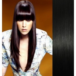 Clip in human hair remy bang/fringe – black