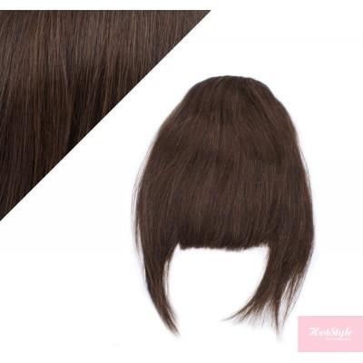 Clip in ofina - REMY 100% ľudské vlasy - TMAVO HNEDÁ