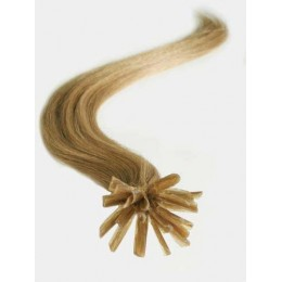 "20"" (50cm) Nail tip / U tip human hair pre bonded extensions – light brown"