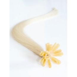 "20"" (50cm) Nail tip / U tip human hair pre bonded extensions – platinum blonde"