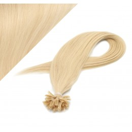 Vlasy európskeho typu na predlžovanie keratínom 60cm - najsvetlejšia blond