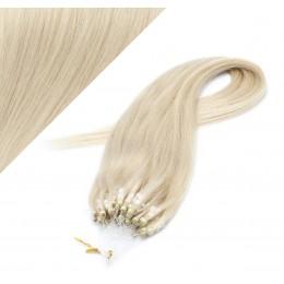 Vlasy pre metódu Micro Ring / Easy Loop / Easy Ring / Micro Loop 40cm - platinová blond