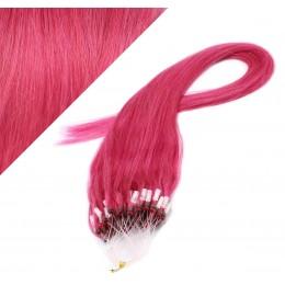 Vlasy pre metódu Micro Ring / Easy Loop / Easy Ring / Micro Loop 40cm - ružová