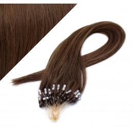Vlasy pre metódu Micro Ring / Easy Loop / Easy Ring / Micro Loop 50cm - stredne hnedé