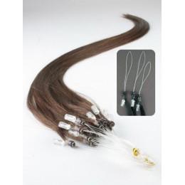 "20"" (50cm) Micro ring human hair extensions – medium brown"