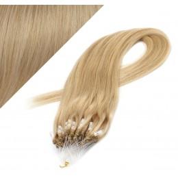Vlasy pre metódu Micro Ring / Easy Loop / Easy Ring / Micro Loop 50cm - prírodná blond