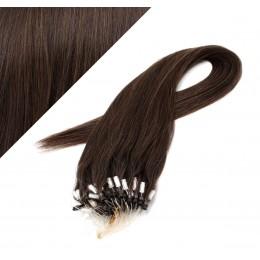 Vlasy pre metódu Micro Ring / Easy Loop / Easy Ring / Micro Loop 60cm - tmavo hnedé
