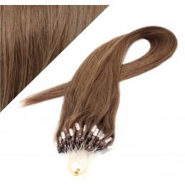 Vlasy pre metódu Micro Ring / Easy Loop / Easy Ring / Micro Loop 60cm - svetlejšie hnedé