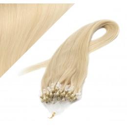 Vlasy pre metódu Micro Ring / Easy Loop / Easy Ring / Micro Loop 60cm - najsvetlejšia blond