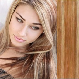 "16"" (40cm) Tape Hair / Tape IN human REMY hair - mixed blonde"