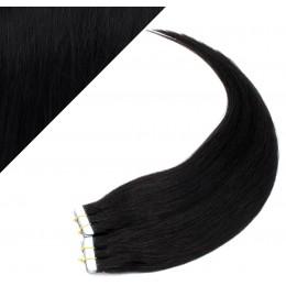 Vlasy pre metódu Pu Extension / Tapex / Tape Hair / Tape IN 50cm - čierne