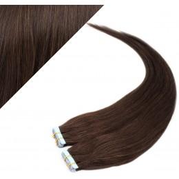 Vlasy pre metódu Pu Extension / Tapex / Tape Hair / Tape IN 60cm - tmavo hnedé
