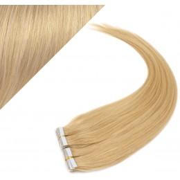 Vlasy pre metódu Pu Extension / Tapex / Tape Hair / Tape IN 60cm - prírodná blond