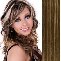 "24"" (60cm) Tape Hair / Tape IN human REMY hair - dark brown/blonde"