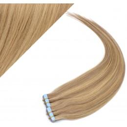 Vlasy pre metódu Pu Extension / Tapex / Tape Hair / Tape IN 60cm - prírodná / svetlejšia blond