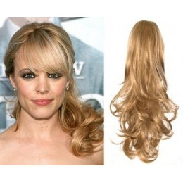 "Clip in ponytail wrap / braid hair extension 24"" curly – natural blonde"