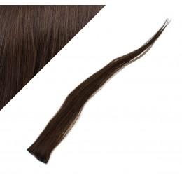 Clip in pramienok - REMY 100% ľudské vlasy, 6ks - tmavo hnedá