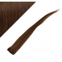Clip in pramienok - REMY 100% ľudské vlasy, 6ks - stredne hnedá