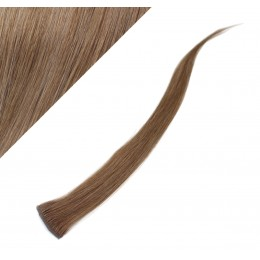 Clip in pramienok - REMY 100% ľudské vlasy, 6ks - svetlo hnedá