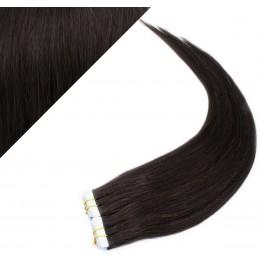 Vlasy pre metódu Pu Extension / Tapex / Tape Hair / Tape IN 50cm - prírodná čierna