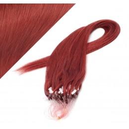 Vlasy pre metódu Micro Ring / Easy Loop / Easy Ring / Micro Loop 60cm - medená