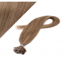 Vlasy európskeho typu na predlžovanie keratínom 40cm - svetlo hnedé