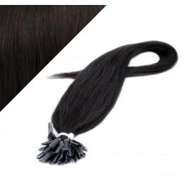 Vlasy európskeho typu na predlžovanie keratínom 40cm - prírodná čierna