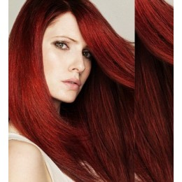 "24"" (60cm) Clip in human REMY hair - copper red"