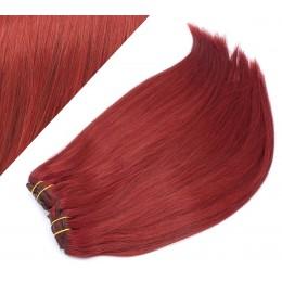 Clip in maxi set 63cm pravé ľudské vlasy - REMY 240g - MEDENÁ